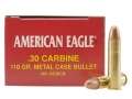 Federal American Eagle Ammunition 30 Carbine 110 Grain Full Metal Jacket Box of 50