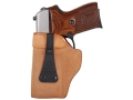 Galco Ultra Deep Cover Inside the Waistband Holster Left Hand S&amp;W J-Frame, Charter Arms Undercover 2&quot;, Taurus 85, 85CH Leather Tan