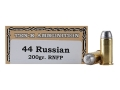 Ten-X Cowboy Ammunition 44 Russian 200 Grain Lead Round Nose Flat Point Box of 50