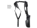 "GunMate Vertical Shoulder Holster Ambidextrous Medium, Large Revolver 4"" to 6-1/2"" Barrel Nylon Black"
