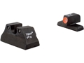Trijicon HD Night Sight Set HK P2000 Steel Matte 3-Dot Tritium Green with Front Dot Outline