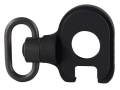 GG&G Quick Detach End Plate Sling Mount Adapter with Heavy Duty Quick Detach Swivel Remington 870, 1100, 11-87 12 Gauge Left Hand Aluminum Matte