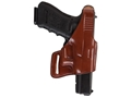 Bianchi 75 Venom Belt Holster Right Hand Glock 17, 19, 22, 23, 26, 27, 34, 35 Leather Tan