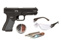 Crosman T4 Air Pistol Kit .177 Caliber CO2 Semi-Automatic Polymer Stock Black
