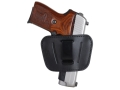 Personal Security Products Belt Slide Holster Fits Medium to Large Frame Automatic Handguns Leather Black