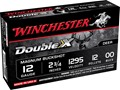 Winchester Supreme Double X Magnum Ammunition 12 Gauge 2-3/4&quot; Buffered 00 Copper Plated Buckshot 12 Pellets Box of 5