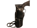 "Triple K 114 Cheyenne Western Holster Left Hand Colt Single Action Army, Ruger Blackhawk, Vaquero 7.5"" Barrel Leather Black"