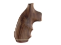 Hogue Fancy Hardwood Grips with Accent Stripe, Finger Grooves and Contrasting Butt Cap Colt 38 SF-VI Pau Ferro