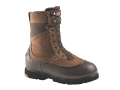 "LaCrosse Alpha Iceman 10"" Waterproof 400 Gram Insulated Hunting Boots Leather and Nylon Brown Mens 7"