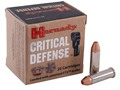 Product detail of Hornady Critical Defense Ammunition 38 Special 110 Grain Flex Tip eXpanding Box of 25