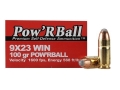Glaser Pow'RBall Ammunition 9x23mm Winchester 100 Grain Box of 20