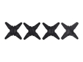 Bowjax Super Slip Jax Bow String Silencer Rubber Black pack of 4