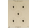 NRA Official Air Rifle Targets AR-4/5 5 Meter BB Gun Paper Package of 100