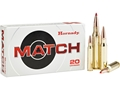 Hornady Match Ammunition 223 Remington 68 Grain Boat Tail Hollow Point Box of 20