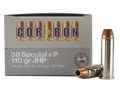 Cor-Bon Self-Defense Ammunition 38 Special +P 110 Grain Jacketed Hollow Point Box of 20