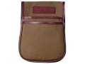 Boyt Harness Estancia Trap and Skeet Pouch Leather/Canvas Khaki