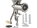 LEM #10 Clamp-On Hand Meat Grinder Stainless Steel
