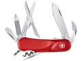 Wenger Swiss Army Evolution S 14 Folding Knife 14 Function Swiss Surgical Steel Blades Polymer Scales Red