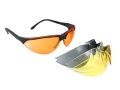 Walker's Sport Shooting Glasses with Interchangeable Orange, Amber, Smoke and Clear Lenses