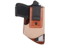 Product detail of DeSantis Pop Up Inside The Waistband Holster Right Hand Ruger LCP, Kel Tec P3AT Leather Brown