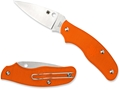 "Spyderco Spy-DK Folding Pocket Knife 2.69"" Drop Point N690Co Steel Blade FRN Handle Orange"