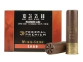 Federal Premium Wing-Shok Ammunition 10 Gauge 3-1/2&quot; 2-1/4 oz Buffered BB Copper Plated Shot Box of 25