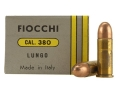Fiocchi Ammunition 380 Long (Rifle) 125 Grain Full Metal Jacket Box of 25