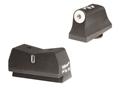 XS 24/7 Express Suppressor Height Night Sight Set Glock 17, 19, 22, 23, 24, 26, 27, 31, 32, 33, 34, 35, 36 Steel Tritium Dot Front, Tritium Stripe Rear