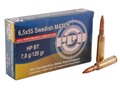 Product detail of Prvi Partizan Match Ammunition 6.5x55mm Swedish Mauser 120 Grain Hollow Point Boat Tail Box of 20