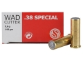 Sellier & Bellot Ammunition 38 Special 148 Grain Lead Hollow Base Wadcutter Box of 50