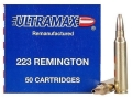 Product detail of Ultramax Remanufactured Ammunition 223 Remington 52 Grain Jacketed Hollow Point