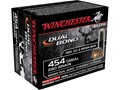 Winchester Supreme Elite Dual Bond Ammunition 454 Casull 260 Grain Jacketed Hollow Point Box of 20