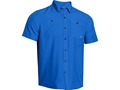 Under Armour Men's Chesapeake Short Sleeve Shirt Polyester Moon Shadow Large 42-44