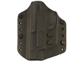 Lenwood Leather Wraith Belt Holster Left Hand Glock 19,23,32 Kydex Black