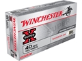 Winchester Super-X Ammunition 40 S&amp;W 155 Grain Silvertip Hollow Point Box of 50
