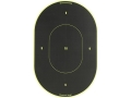 Birchwood Casey Shoot-N-C Target 9&quot; Oval Package of 5 with 100 Pasters