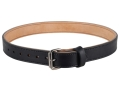"Lenwood Leather Double Layer Belt 1.5"" Steel Buckle Leather Black 40"""