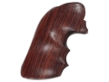 Hogue Fancy Hardwood Grips with Finger Grooves Ruger Blackhawk, Single Six, Vaquero Rosewood
