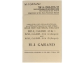 "Product detail of ""M1 Garand: Operator and Organizational Maintenance Manual, Including Repair Parts and Special Tools"" Military Manual by Department of the Army"