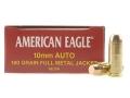 Federal American Eagle Ammunition 10mm Auto 180 Grain Full Metal Jacket