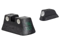 Meprolight Tru-Dot Sight Set CZ 75, 83, 85 Steel Blue Tritium Green