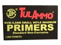 TulAmmo Small Rifle 223 Remington Primers Case of 5000 (5 Boxes of 1000)