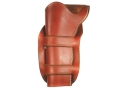 "Van Horn Leather Mexican Double Loop Holster 4-3/4"" Single Action Left Hand Leather Chestnut"