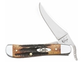 "Case Russlock Folding Pocket Knife 4.25"" Clip Point Stainless Steel Blade"