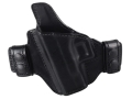 Bianchi Consent Outside the Waistband Holster Left Hand Glock 26, 27, 33 Leather Black