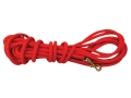 Mud River Hard Head Check Cord Lunge Dog Leash 40' Nylon Orange