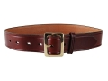 "Don Hume B109 Holster Belt 1-1/2"" Brass Buckle Leather Brown 36"""