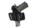 Bianchi 5 Black Widow Holster Left Hand CZ 75, S&W 411, 909, 910, 915, 3904, 4006, 5904 Leather Black