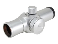 ADCO E-Dot Red Dot Sight 25mm Tube 1x 3 MOA Dot with Weaver-Style Rings Silver