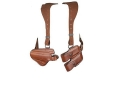 Bianchi X16 Agent X Shoulder Holster System Left Hand 1911 Government, Browning Hi-Power Leather Tan